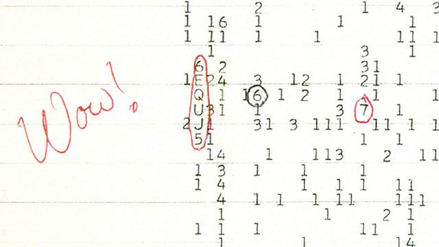 полученный в 1977 году сигнал Wow