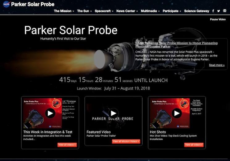 Зонд Паркера для изучения солнечной системы
